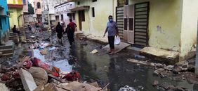 Hochwasser Flut Überschwemmung Indien