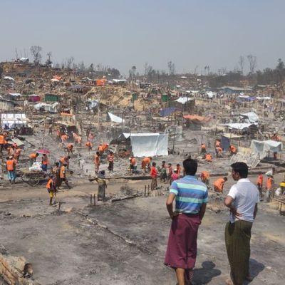 Rohingya Bangladesch Feuer Flüchtlingscamp cox`s Bazar