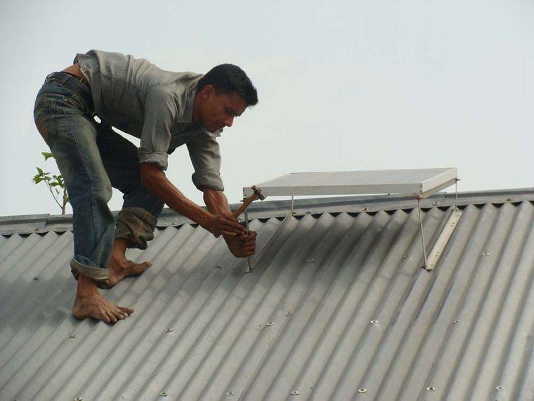 Klimaschutz durch Solarlicht und Solarpanel