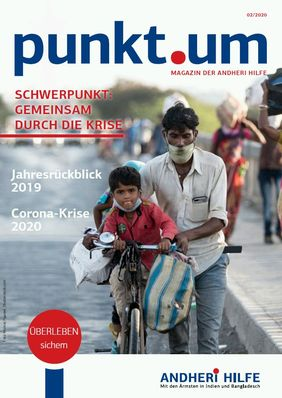 Spenden Magazin Mann mit Kind auf Fahrrad Indien