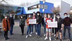 Gymnasium Brühl st ursula spendenlauf Scheckübergabe