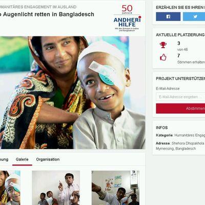 Augenlicht retten in Bangladesch spenden canada life