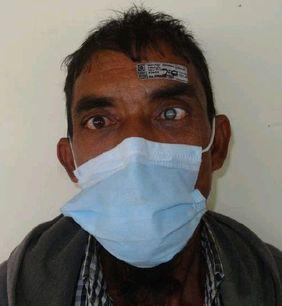 Bangladesch blinder Mann vor Augenoperation . Grauer Star