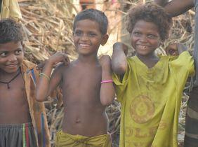 Kinder der Musahar in Indien