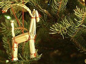 Weihnachtsschmuck Tannenbaum Stohschmuck Basar