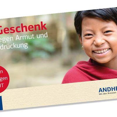 Eine Spende ist das schönste Geschenk. Verschenken Sie eine Spende – mit unserer Geschenkkarte