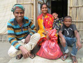 Familie Bangladesch Indien Corona covid 19