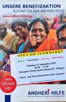 Flohmarkt Plakat Frau Indien