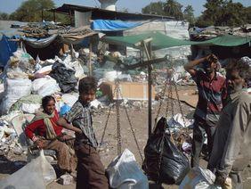 Slum Hyderabad Indien