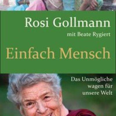 """Buchcover """"Einfach Mensch"""" von Rosi Gollmann"""